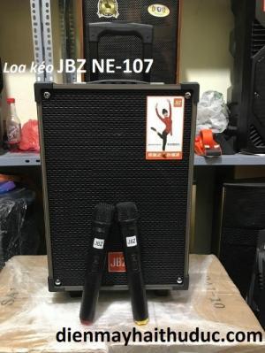 Loa kéo thùng gỗ  JBZ NE-107 tặng kèm 2 micro không dây