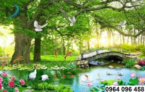 Tranh phong cảnh - gạch tranh 3d cao cấp