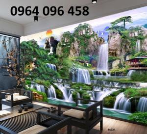 Tranh 3d thác nước - gạch tranh 3d
