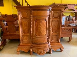 Tủ thờ gỗ gõ đỏ Lao nagng 1,53m vân cực đẹp giá cực sốc