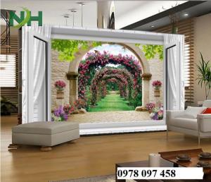 Tranh gạch phòng khách- tranh đẹp 3D