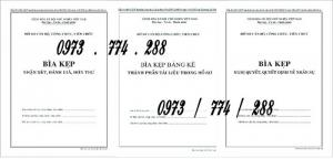 Bộ 3 bìa kẹp hồ sơ Cán Bộ - Công Chức - Viên Chức - Mẫu bìa 01b - 06b - 07b-BNV