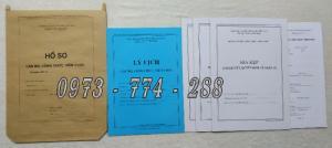 Bán hồ sơ cán bộ công chức, viên chức của bộ nội vụ  mẫu B06 bnv/2008 ban hành