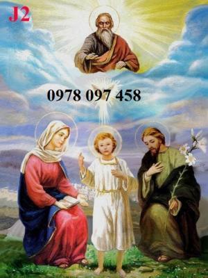 Tranh gia đình Thánh Gia- tranh gạch 3D