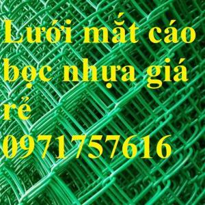 Phân phối lưới mắt cáo bọc nhựa xanh