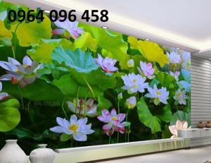 Tranh hoa sen 3d - gạch tranh 3d