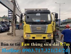 Xe tải Faw thùng kín siêu dài 9m7. Xe Faw...