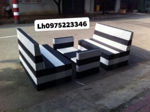 Sofa nhựa giả mây giá rẻ..