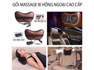 Gối massage hồng ngoại 2 chiều