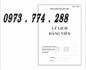 Lý lịch Đảng viên mẫu 1 - HSĐV - bìa trắng