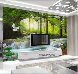 Tranh phong cảnh- tranh gạch men 3D