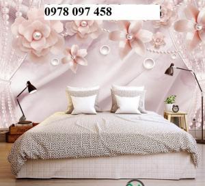 Tranh ốp tường phòng ngủ- tranh gạch 3d sang trọng