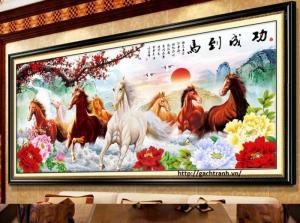 Tranh ngựa - tranh phong thủy phòng khách