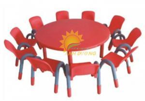 Cung cấp bàn nhựa hình tròn cho bậc mẫu giáo, mầm non giá rẻ, chất lượng cao