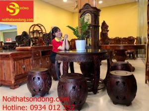 Top bộ ghế trống gỗ trắc việt đẹp nhất Việt Nam