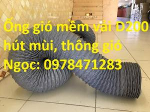 Ống gió mềm vải D200, D250, D300, D350 chuyên dẫn gió, thông khí, hút bụi.