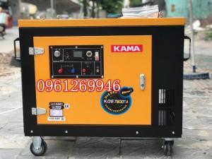 Máy phát điện chạy dầu 6kw Kama 7800 công nghệ Đức vỏ chống ồn hiệu quả