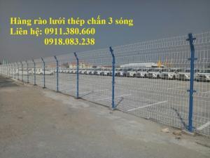 Hàng rào lưới thép chấn 3 sóng, mạ kẽm sơn tĩnh điện,....