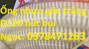 Ống gân nhựa trắng phi 100,phi 120,phi 150 hút hạt, hút bụi hàng sẵn giá rẻ