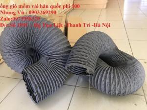 Đại lý phân phối ống gió mềm vải Tarpaulin Phi 75, Phi 100, Phi 125, Phi 150