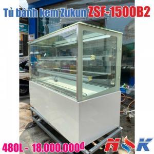 Tủ bánh kem kính vuông Zukun ZSF-1500B2 (3 tầng), ngang 1.5m