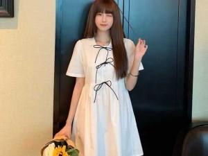 Đầm vát nữ trắng suông 3 nơ đen ngực