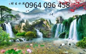 Tranh phong cảnh 3d thác nước