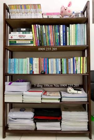 Kệ sách gỗ 5 tầng 100cm