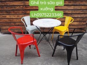 Ghế sắt sơn tỉnh điện nhiều màu bán giá tại nơi sản xuất