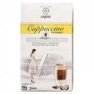 Cà phê Cappuccino Hương Dừa Coconut, Cafe Hòa tan Capuchino coconut Trung Ngu