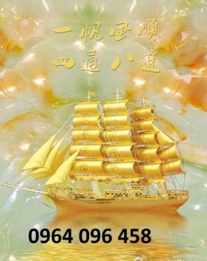 Gạch tranh 3d phong thủy thuyền buồm