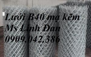 Lưới thép b40 mạ kẽm, lưới thép b40 bọc nhựa, hàng rào lưới thép b40,