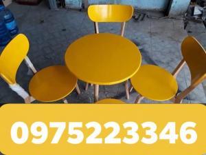 Bàn ghế QUẦY sơn màu