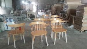Ghế gỗ 7 xong đẹp và sang giá tại nơi sản xuất