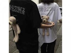 Áo thun nam nữ kèm gấu cute