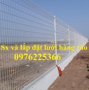 Hàng rào lưới thép mạ kẽm sơn tĩnh điện D5 a50x200 chấn sóng