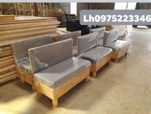 Sofa gỗ bọc nệm