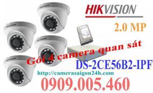 Gói camera an ninh cửa hàng thương hiệu HỊVISION
