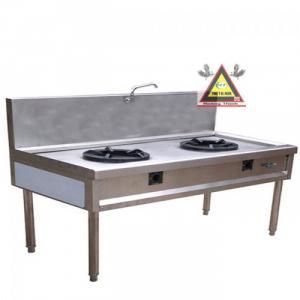 Bếp Á công nghiệp 2 họng đốt, bếp Á cho nhà hàng