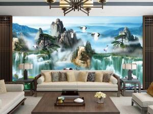 Tranh gạch 3D trang trí phòng khách