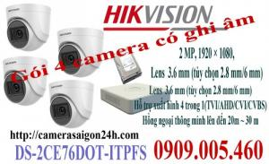 Camera HIKVISION Tích hợp Micro thu âm thanh