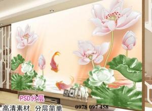 Tranh hoa 3D - tranh đepj phòng khách