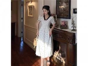 2020-07-04 20:13:14  2  Đầm váy nữ trắng xòe hoa nhí tay phồng 250,000