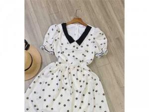 2020-07-04 20:13:14  4  Đầm váy nữ trắng xòe hoa nhí tay phồng 250,000