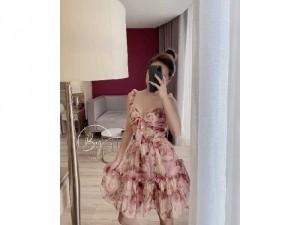 2020-07-04 21:02:11 Đầm váy nữ 2 dây hoa xòe nơ ngực có 2màu 240,000