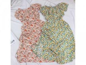 2020-07-04 21:40:18  5  Đầm váy nữ bẹt vai midi hoa rút thân xẻ 240,000