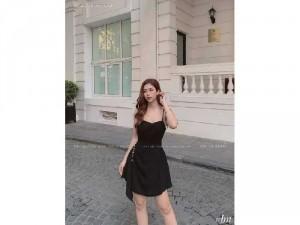 2020-07-04 21:57:53  4  Đầm váy nữ 2 dây vạt bèo tà xéo 2 lớp 250,000