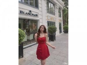 2020-07-04 21:57:53  5  Đầm váy nữ 2 dây vạt bèo tà xéo 2 lớp 250,000
