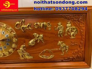2020-07-05 10:18:27  3  Tranh đồng hồ dát vàng Cha Mẹ cực đẹp giá cực rẻ 2,250,000