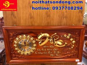 Tranh đồng hồ chữ Đức dát vàng cực sang giá cực bèo